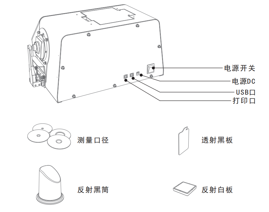 雾度仪外观结构功能按键